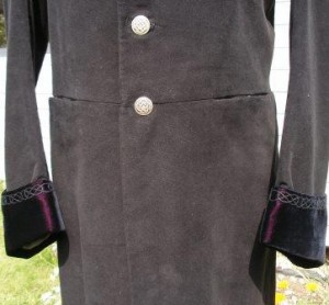 celtic embroidered coat pockets 2